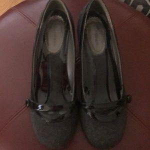 Grey with black heels size 7.5